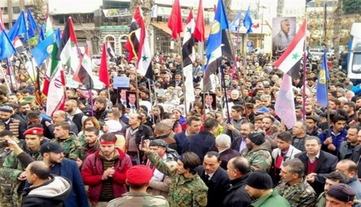 Suriye Halkı ABD'nin Terör Eylemini Protesto Etti