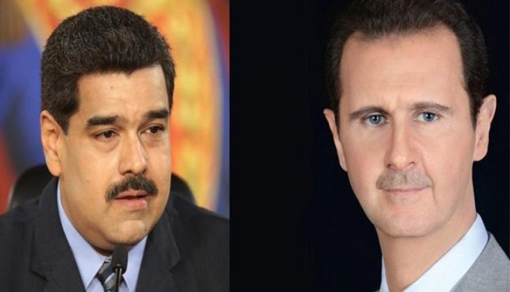 Maduro'dan Başkan Esad'a: Bu, Barışın ve Ulusal Egemenliğin Zaferidir