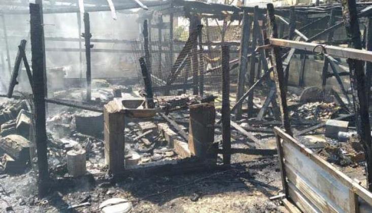 Mülteci Kampında Yangın Çıktı
