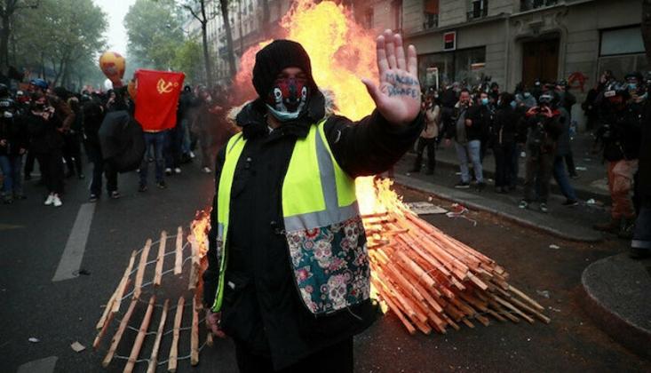 Fransa'da Olaylı 1 Mayıs Gösterileri