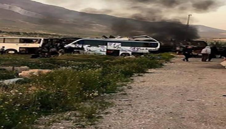 Şam'da Yakıt Tankeri ile İki Yolcu Otobüsü Çarpıştı: 30 Ölü