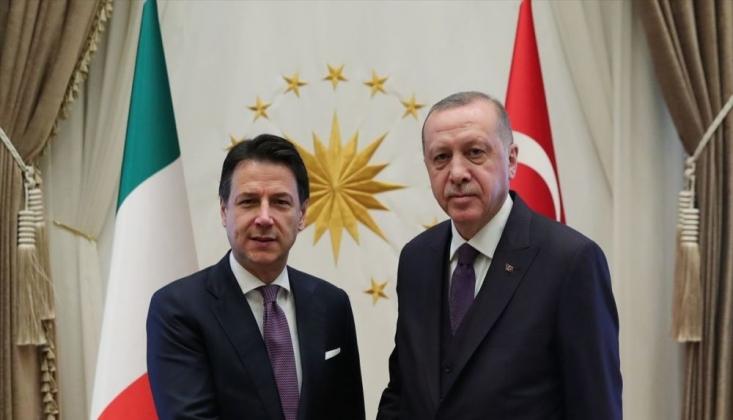 Erdoğan ve Conte'den Ortak Basın Açıklaması