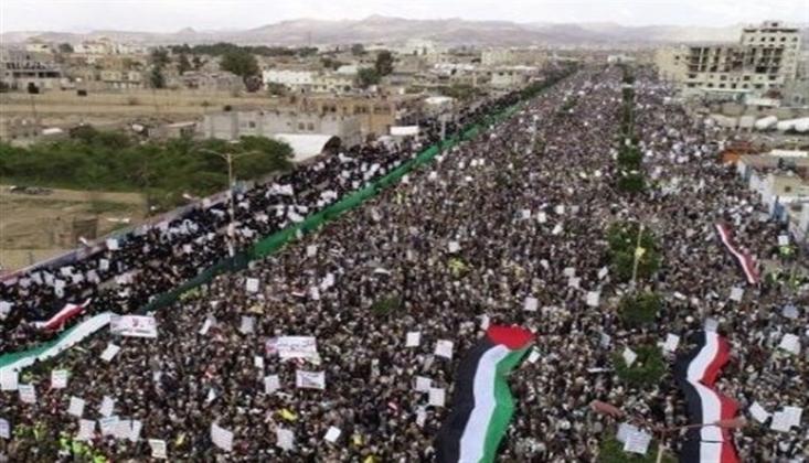 Milyonlarca Yemen Halkı Siyonist Rejimi Uyardı