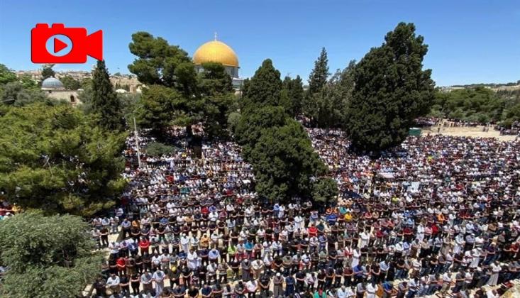 Direnişin Zaferi Sonrası Mescid-i Aksa'da Cuma Namazı