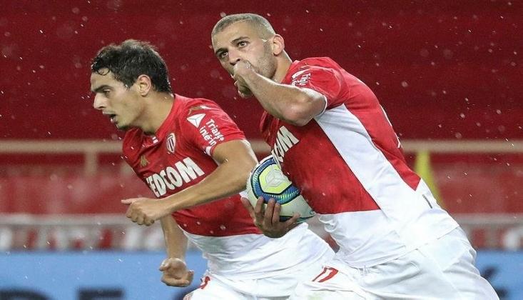 Slimani Şov Yaptı Monaco Kazandı!