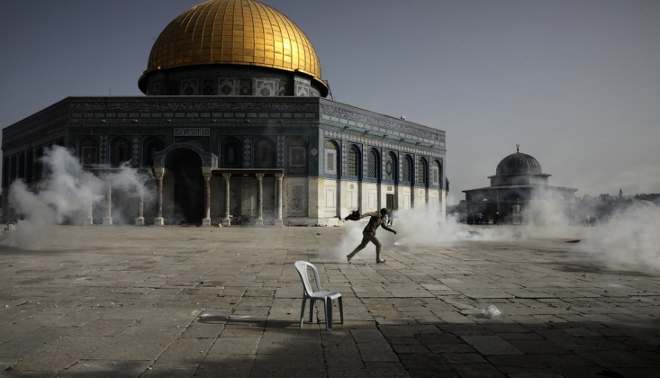 Siyonist İsrail Bu Sabah da Mescid-i Aksa'ya Saldırdı