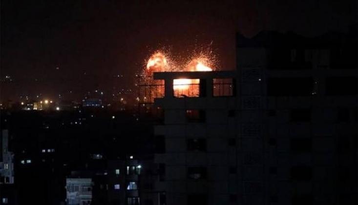 Siyonist İsrail Gazze'ye Saldırdı