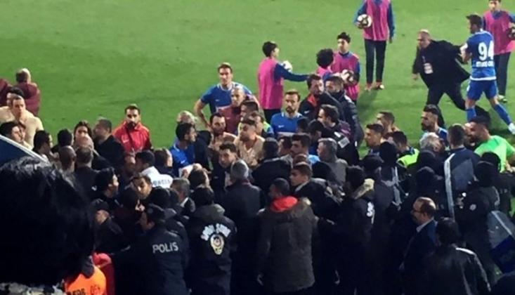 Tuzlaspor - Galatasaray Maçında Kavga!