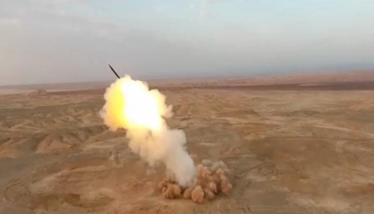 İran'ın Fırlattığı Füzenin İlk Görüntüleri /FOTO-VİDEO