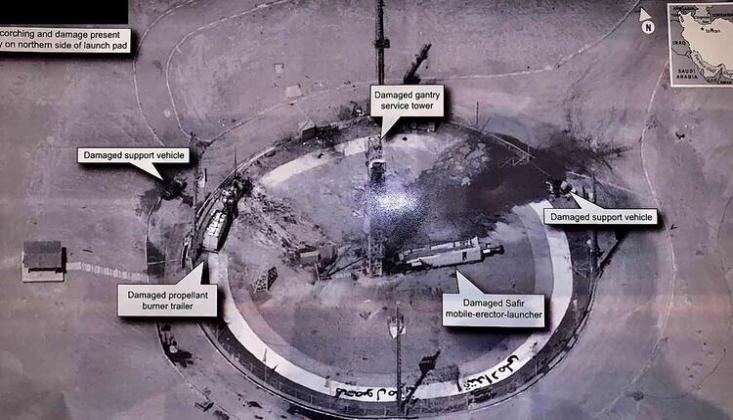 İran Trump'ın İnfilak Ettiğini Öne Sürdüğü Uydunun Görüntülerini Paylaştı