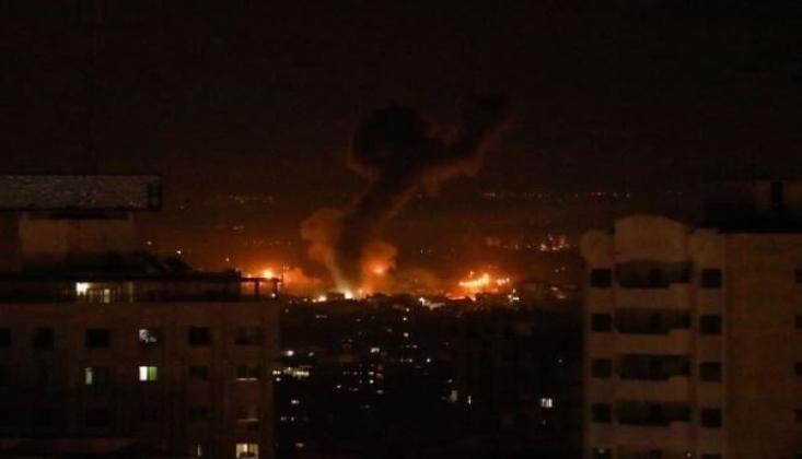 İsrail, Gazze'de Hamas'a Ait Bazı Noktaları Vurdu