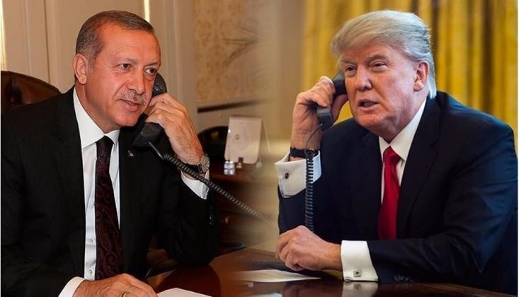 Erdoğan Trump'la İdlib'i Görüştü