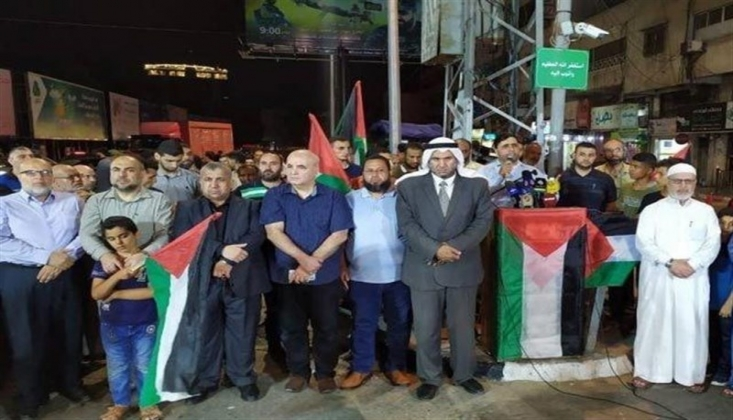 Filistin Halkı, Hamas'a Destek Gösterileri Düzenledi