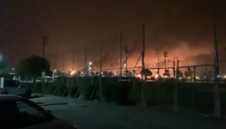 Arabistan'ın İki Rafinerisi İHA Saldırısı Sonucu Yanmaya Başladı