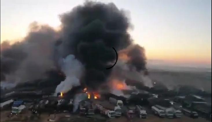 El Nusra Cephesi'nin Kaçak Petrol Pazarı Bombalandı