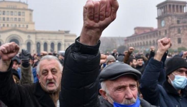 Erivan'da Muhalefetin Protesto Gösterileri Devam Ediyor