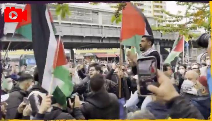 Alman Hükümetini  Uyarılarına Rağmen Berlin'de Filistin'e Destek Gösterisi