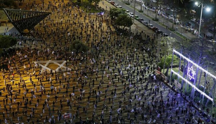 Tel Aviv'de Netanyahu Karşıtı Gösteri