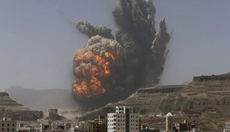 Suudi Koalisyonu, Sanaa'nın Kuzeydoğusunu Bombaladı