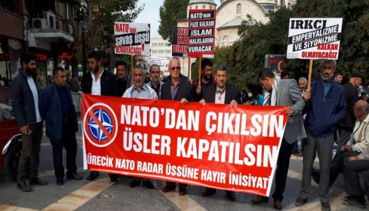 Malatya'da NATO'dan Çıkılsın Protestosu /FOTO