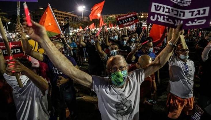 Tel Aviv'de Netanyahu'nun 'İlhak Planı' Protesto Edildi
