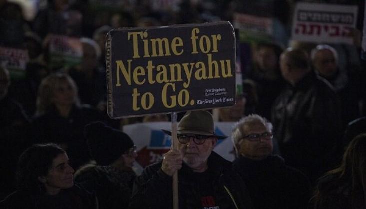 Netanyahu Karşıtı Gösteriler Kısıtlamalara Rağmen Sürüyor