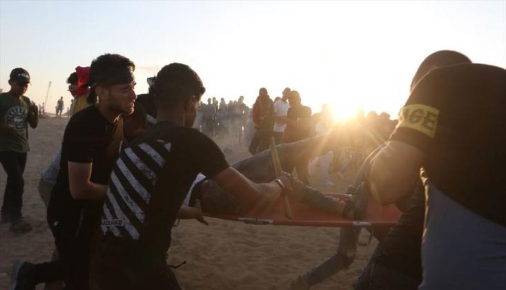 İsrail Gazze Sınırındaki Göstericilere Saldırdı