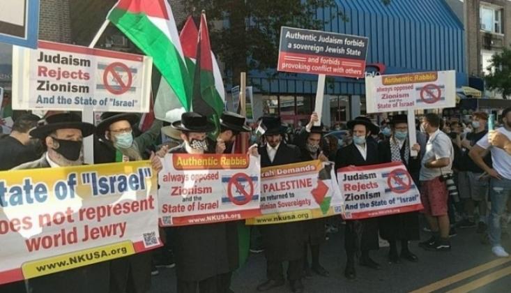İsrail'in İşgal Planına Karşı Halk New York'ta Sokaklarına İndi