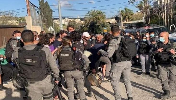 İşgal Polisi Şeyh Cerrah'ta Filistinlilere Saldırdı