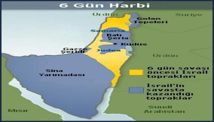 Sina Yarım Adası, Golan Tepeleri ve Gazze Şeridi'nin İşgal Edilişi