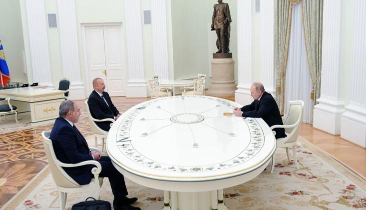 Putin, Aliyev ve Paşinyan'ı Bir Araya Getirdi