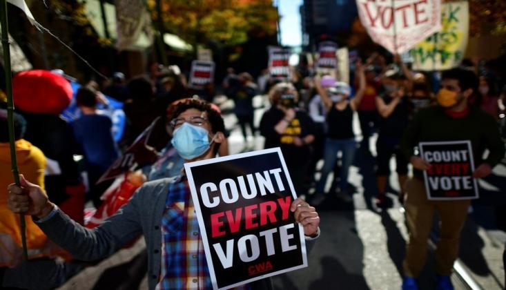 ABD'de Başkanlık Seçimlerindeki Belirsizlik Protestosu Sürüyor /FOTO