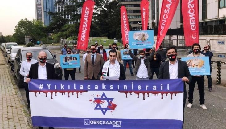 İstanbul'da İsrail Protestosu: ''Nefes Alıyorsanız İşbirlikçi Müslüman Liderlere Borçlusunuz!''