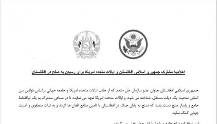 ABD, NATO ve Afganistan Hükümetinden Kabil'de Ortak Açıklama