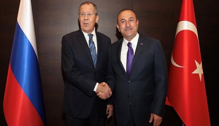 Lavrov ve Çavuşoğlu Suriye'yi Görüştü