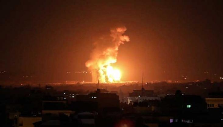 Siyonist İsrail, Gazze Şeridi'ne Hava Saldırısı Düzenledi