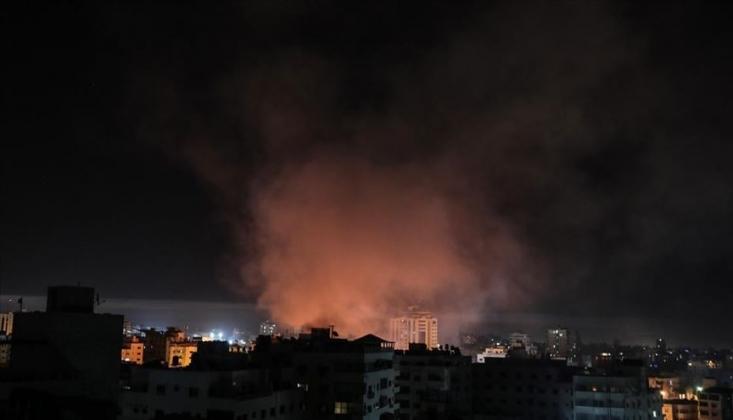 İşgal Rejimi Gazze Şeridi'ne Saldırdı