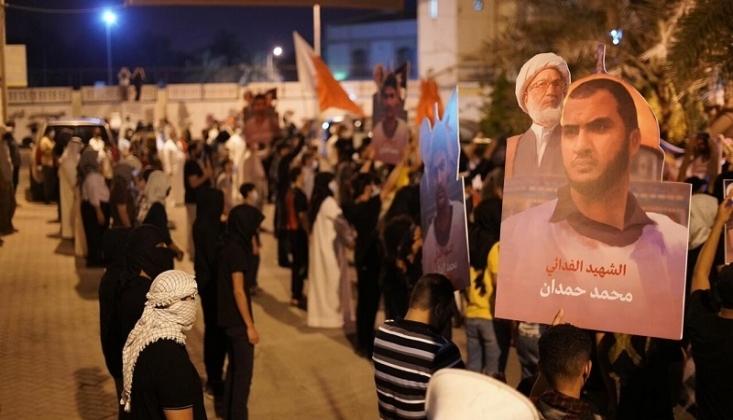 Bahreyn halkından Şeyh İsa Kasım'a Destek