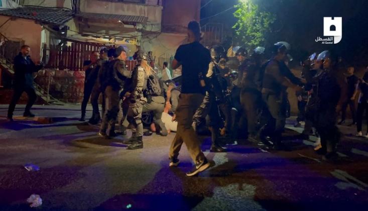 İşgalci İsrail, Şeyh Cerrah Mahallesi'ne Baskın Düzenledi
