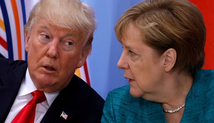 Trump, Macron ve Merkel İle İran Meselesini Görüştü