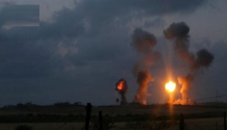 Siyonist Rejim Gazze Şeridi'ne Saldırdı