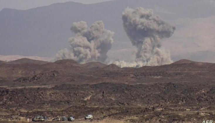 Suudi Rejim Yemen'i Bombaladı