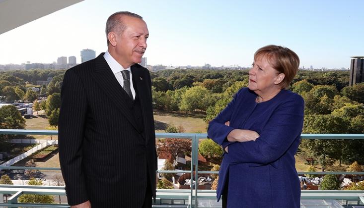 Erdoğan ile Merkel Suriye'yi Konuştu