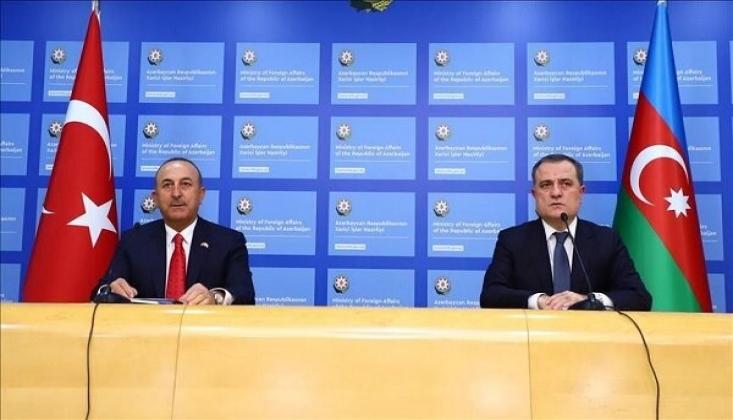 Çavuşoğlu, Azeri mevkidaşı ile Görüştü