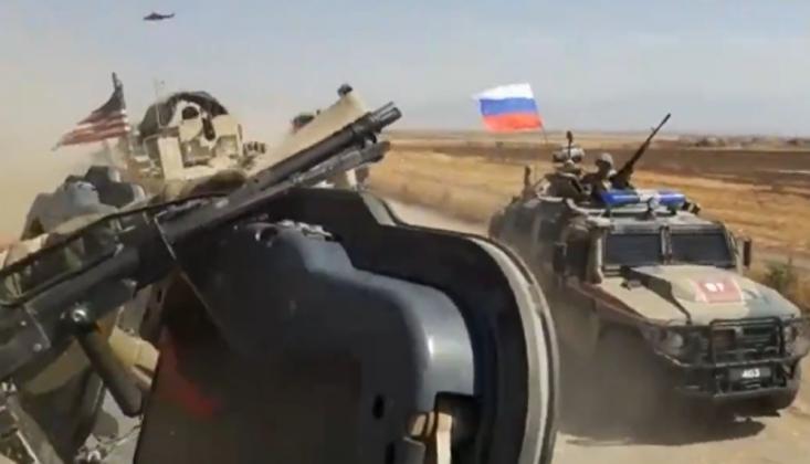 ABD Askerleri Rus Devriyesinin Önünü Kesti
