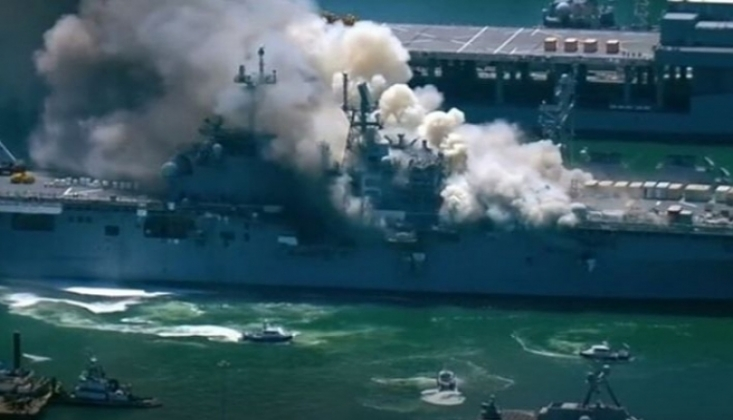 ABD Savaş Gemisinde Yangın