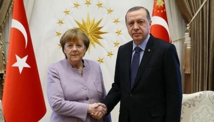 Erdoğan Merkel'le 'Libya ve Doğu Akdeniz'i Görüştü