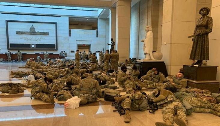 Washington'u Korku Sardı: Askerler Kongre Binasında/Foto- Video