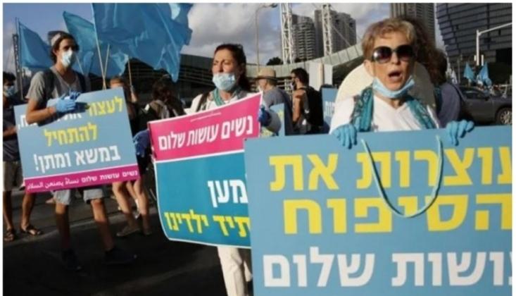Tel-Aviv'de İlhak Planı Protesto Edildi