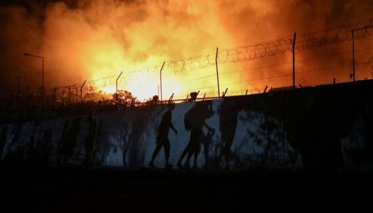Binlerce Sığınmacının Kaldığı Kampta Yangın!